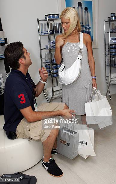 Chris Stern and Lizzie Grubman during 2005 MTV VMA The Sanctuary by BWR Best Events Premiere Gifting Hotel at Sanctuary Hotel in Miami Beach Florida...