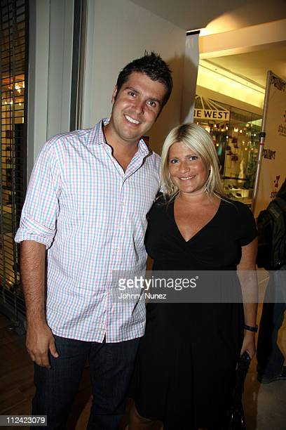 Chris Stern and Lizzie Grubman during Stephon Marbury and Steve and Barry's Introduce Starbury Clothing Line VIP Room at Steven Berry Store Manhattan...
