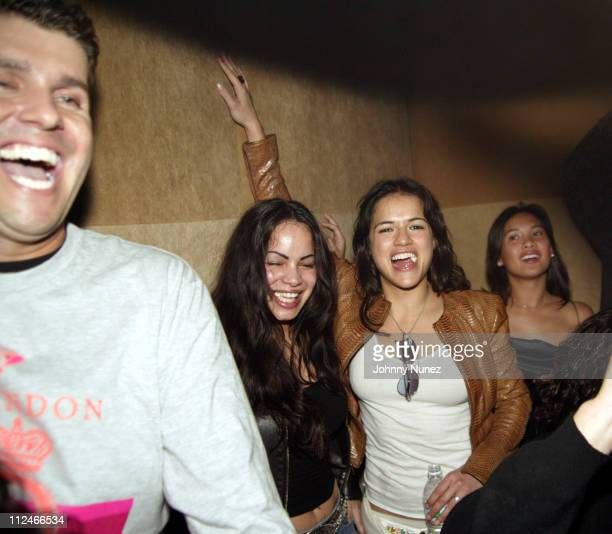 Chris Stern Guest and Michelle Rodriguez during Chris Stern of Bad Boy's Birthday Party at Suede in New York City New York United States
