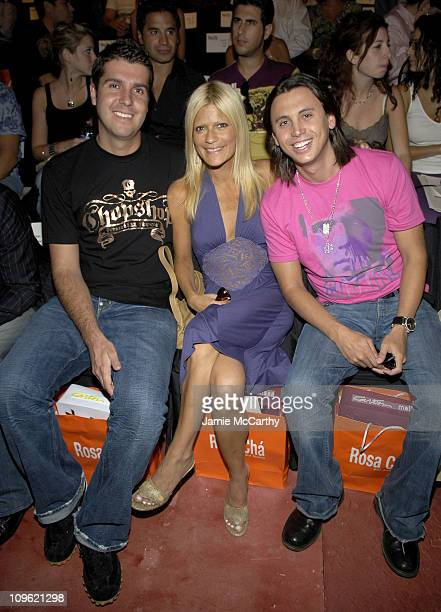 Chris Stern Lizzie Grubman and Jonathan Cheban during Olympus Fashion Week Spring 2006 Rosa Cha by Amir Slama Front Row and Backstage at Bryant Park...