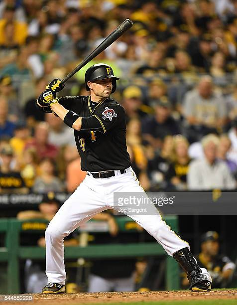 Chris Stewart of the Pittsburgh Pirates bats against the San Francisco Giants on June 22 2016 at PNC Park in Pittsburgh Pennsylvania