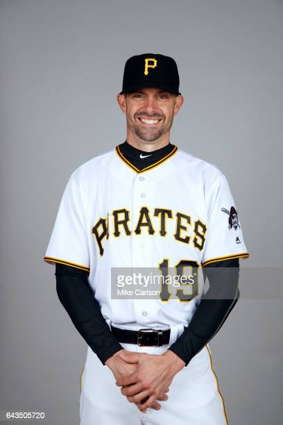 Chris Stewart of the Pittsburgh Pirates poses during Photo Day on Sunday February 19 2017 at LECOM Park in Bradenton Florida