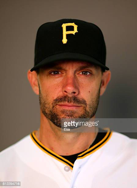 Chris Stewart of the Pittsburgh Pirates poses for a portrait on February 25 2016 at Pirate City in Bradenton Florida