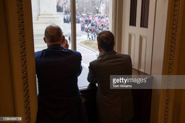Chris Stewart views rioters who broke into the Capitol during a joint session of Congress to certify the Electoral College votes of 2020 presidential...