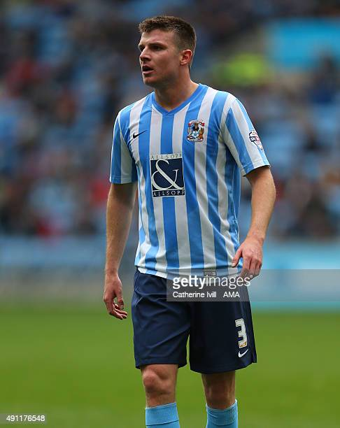 Chris Stokes of Coventry City during the Sky Bet League One match between Coventry City and Shrewsbury Town at Ricoh Arena on October 3 2015 in...
