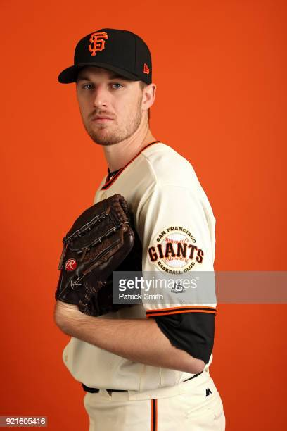 Chris Stratton of the San Francisco Giants poses on photo day during MLB Spring Training at Scottsdale Stadium on February 20 2018 in Scottsdale...