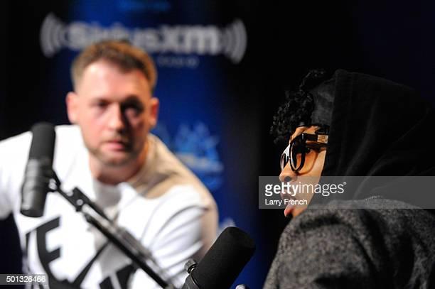 Chris Styles interviews August Alsina during SiriusXM Studios The Heat at SiriusXM Studio on December 14 2015 in Washington DC