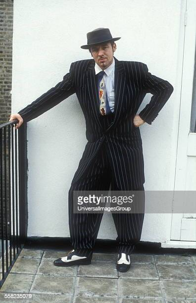 Chris Sulivan from Blue Rondo a La Turk wearing a 40's style Zoot Suit London 1980's