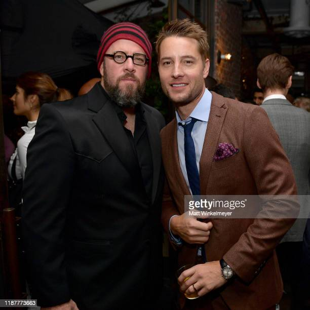 Chris Sullivan and Justin Hartley attend the Hollywood Foreign Press Association and The Hollywood Reporter Celebration of the 2020 Golden Globe...