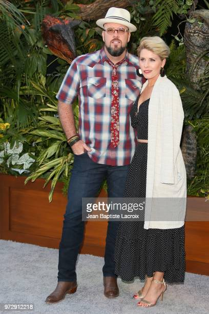 Chris Sullivan and Rachel Reichard attend the premiere of Universal Pictures and Amblin Entertainment's Jurassic World Fallen Kingdom on June 12 2018...