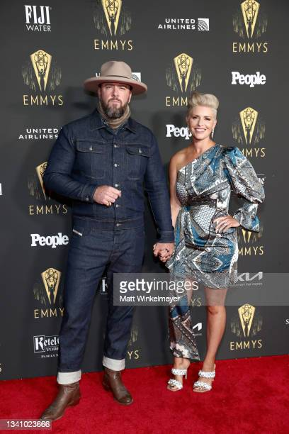 Chris Sullivan and Rachel Sullivan attend the Television Academy's Reception to Honor 73rd Emmy Award Nominees at Television Academy on September 17,...