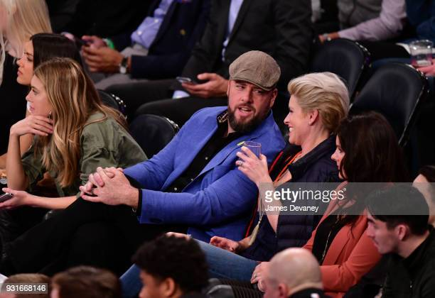 Chris Sullivan attends the New York Knicks Vs Dallas Mavericks game at Madison Square Garden on March 13 2018 in New York City