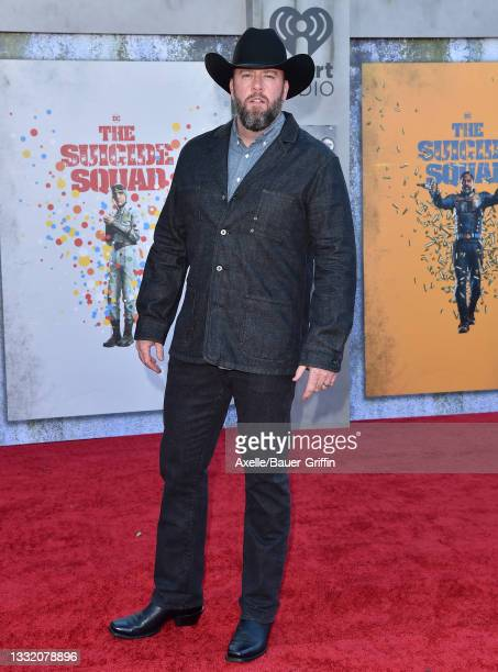 """Chris Sullivan attends Warner Bros. Premiere of """"The Suicide Squad"""" at The Landmark Westwood on August 02, 2021 in Los Angeles, California."""