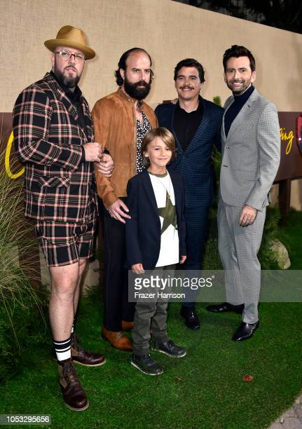 Chris Sullivan Brett Gelman Duncan Joiner Arturo Del Puerto and David Tennant attend the Los Angeles premiere of the HBO Series Camping at Paramount...