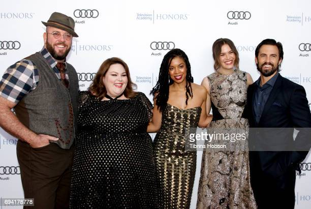 Chris Sullivan Chrissy Metz Susan Kelechi Watson Mandy Moore and Milo Ventimiglia attend the 10th Annual Television Academy Honors at Montage Beverly...