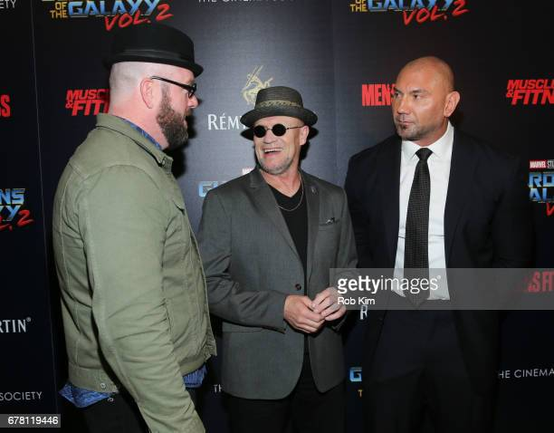 Chris Sullivan Michael Rooker and Dave Bautista attend the screening of 'Guardians of the Galaxy Vol 2' presented by Remy Martin at The Whitby Hotel...