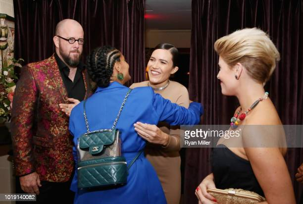 Chris Sullivan Tracee Ellis Ross Mandy Moore and Rachel Sullivan attend Harper's BAZAAR and the CDG celebrate Excellence in Television Costume Design...