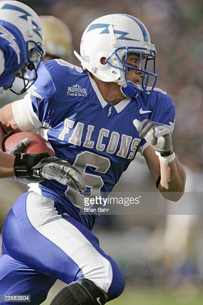 Chris Sutton of the Air Force Falcons carries the ball during the game against of the Notre Dame Fighting Irish on November 11 2006 at Falcon Stadium...