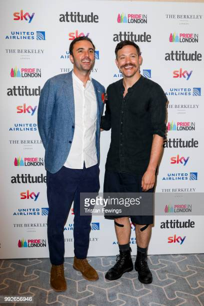 Chris Sweeney and Will Young attends the Attitude Pride Awards 2018 at The Berkeley Hotel on July 6 2018 in London England