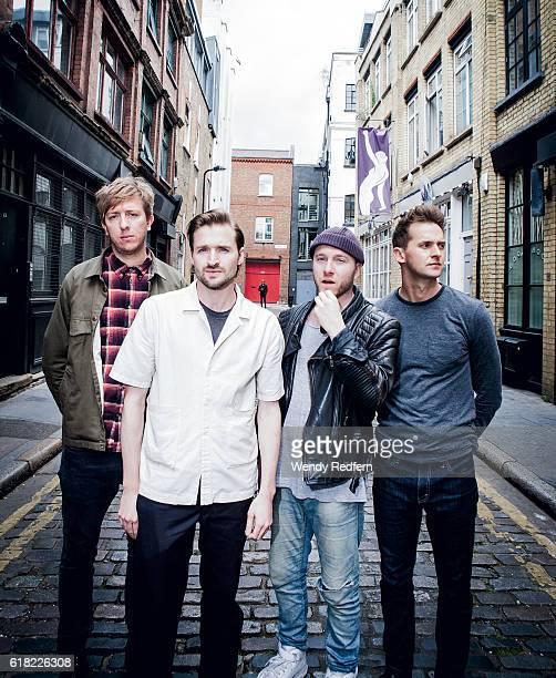 Chris Talbot Hayden Thorpe Tom Fleming Ben Little of Wild Beasts pose for a group portrait on July 21st 2016 in London