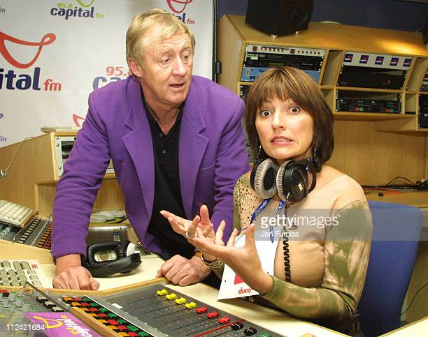 Chris Tarrant and Davina McCall during Capital FM Announce Davina McCall Will Host The Breakfast Show at Leicester Square in London Great Britain
