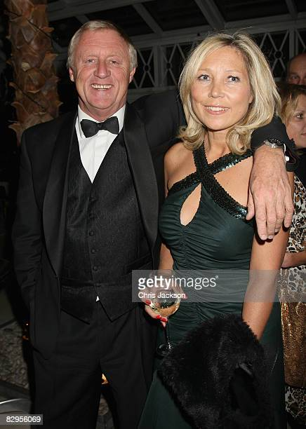 Chris Tarrant and girlfriend Jane Bird pose for a photograph at the New Style Magazine's 5th Anniversary Party at the Millenium Gloucester Hotel on...