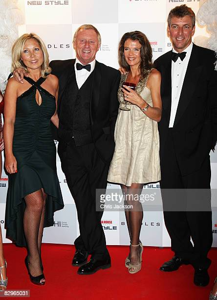 Chris Tarrant and Jane Bird and Annabel Croft and her husband Mel Coleman pose for a photograph at the New Style Magazine's 5th Anniversary Party at...