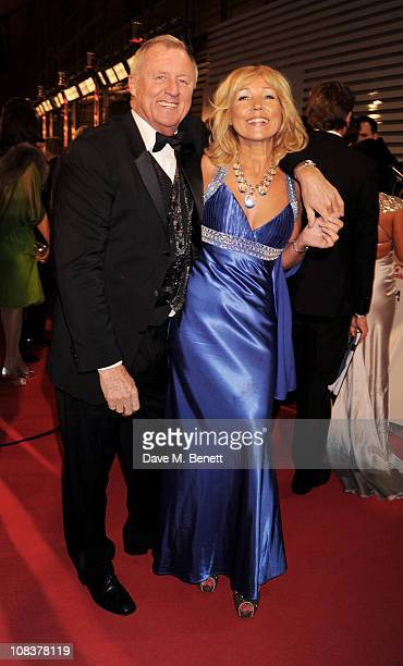 Chris Tarrant and Jane Bird arrive at the National Television Awards at O2 Arena on January 26 2011 in London England