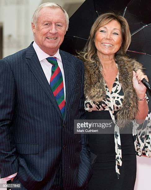 Chris Tarrant and Jane Bird arrive for The Sun Military Awards at The Guildhall on January 22 2016 in London England