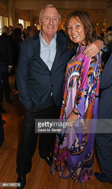 Chris Tarrant and Jane Bird attend a party celebrating 40 years of Langan's Brasserie on April 3 2017 in London England