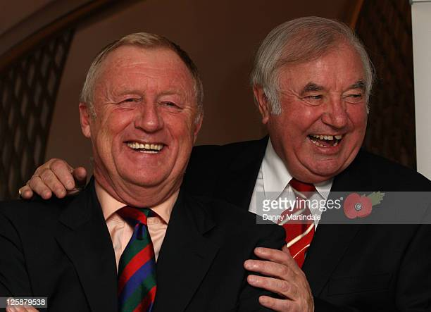 Chris Tarrant and Jimmy Tarbuck attend a tribute lunch to Sir Terry Wogen/ his tribute lunch at The Dorchester on November 5 2010 in London England