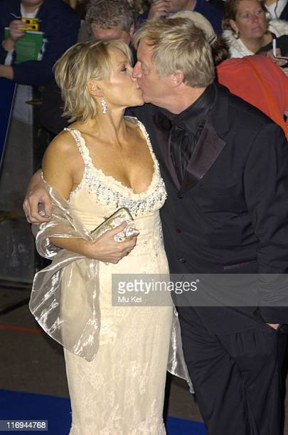 Chris Tarrant and wife during National Television Awards 2005 at Royal Albert Hall London in London United Kingdom