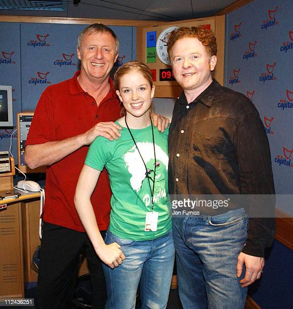 Chris Tarrant Becky Jago and Mick Hucknall during Mick Hucknall Celebrates The Opening Of The New Capital FM Studio at Leicester Square in London...