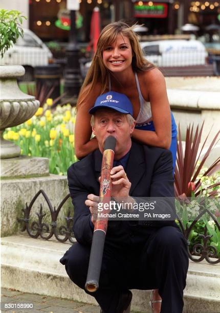 Chris Tarrant Playing A Didgeridoo With Mimi Macpherson Younger Sister Of Australian Supermodel Elle At The
