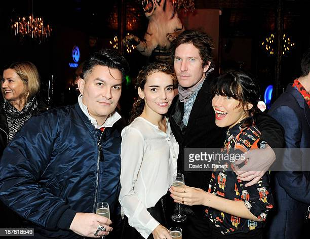 Chris Taylor and Tabitha Denholm pose with guests at #VauxhallPresents Made in England by Katy England screening hosted by Vauxhall Motors at The...