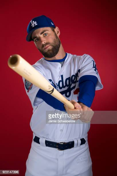 Chris Taylor of the Los Angeles Dodgers poses during MLB Photo Day at Camelback Ranch Glendale on February 22 2018 in Glendale Arizona