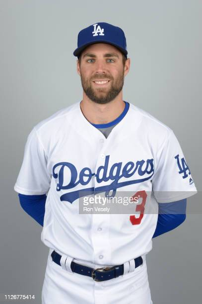 Chris Taylor of the Los Angeles Dodgers poses during Photo Day on Thursday February 20 2019 at Camelback Ranch in Glendale Arizona