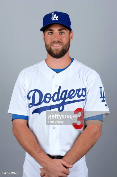 Chris Taylor of the Los Angeles Dodgers poses during Photo Day on Friday February 24 2017 at Camelback Ranch in Glendale Arizona