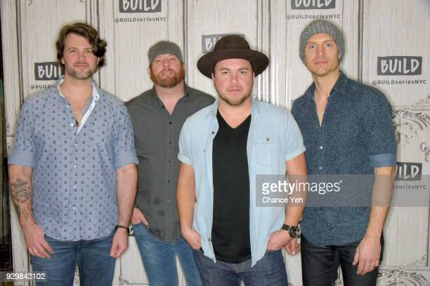Chris Thompson James Young Mike Eli and Jon Jones of Eli Young Band attend Build series to discuss 'Fingerprints' at Build Studio on March 9 2018 in...