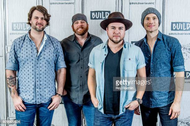 Chris Thompson James Young Mike Eli and Jon Jones of Eli Young Band discuss 'Fingerprints' with the Build Series at Build Studio on March 9 2018 in...