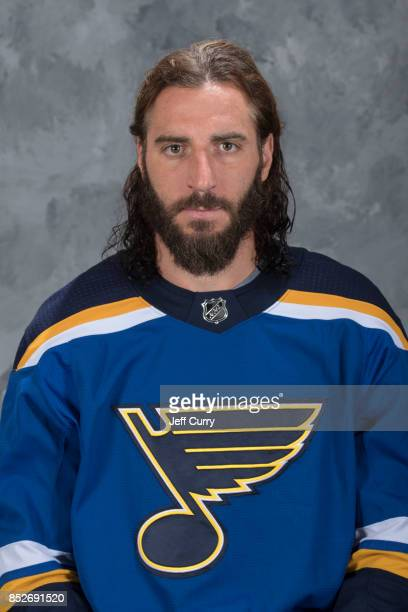 Chris Thorburn of the St Louis Blues poses for his official headshot for the 20172018 season on September 14 2017 in St Louis Missouri