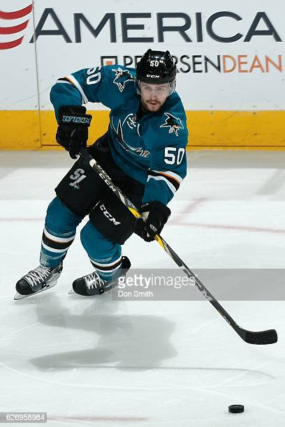 Chris Tierney of the San Jose Sharks skates during a NHL game against the Anaheim Ducks at SAP Center at San Jose on November 26, 2016 in San Jose,...