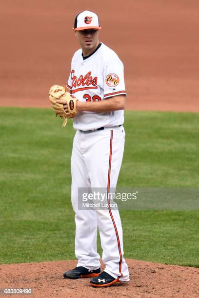 Chris Tillman of the Baltimore Orioles pitches during a baseball game against the Chicago White Sox at Oriole Park at Camden Yards on May 7 2017 in...