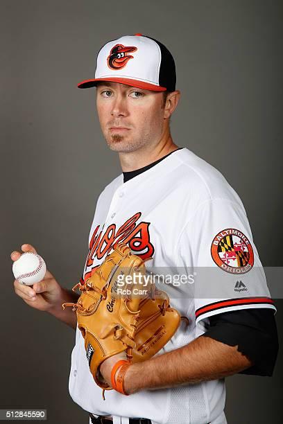 Chris Tillman of the Baltimore Orioles poses during photo day at Ed Smith Stadium on February 28 2016 in Sarasota Florida