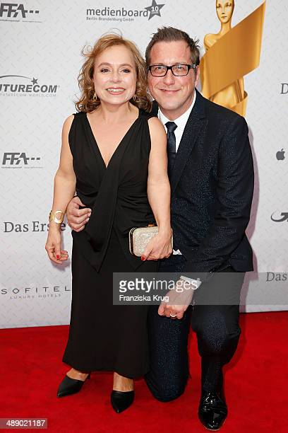 Chris Tine Urspruch and Tobias Materna Rechte attend the Lola German Film Award 2014 at Tempodrom on May 09 2014 in Berlin Germany