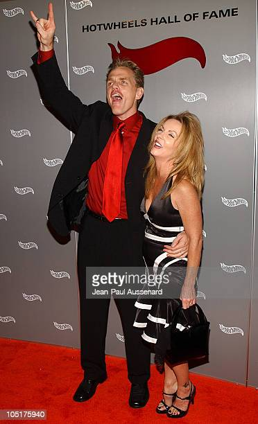 Chris Titus and wife during Hot Wheels Hall of Fame Induction Gala and Charity Benefit Orange Carpet at Petersen Automotive Museum in Los Angeles...