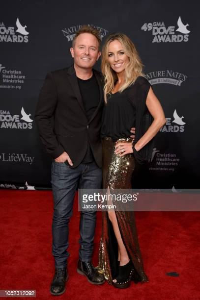 Chris Tomlin and Lauren Bricken attend the 49th Annual GMA Dove Awards at Allen Arena Lipscomb University on October 16 2018 in Nashville Tennessee