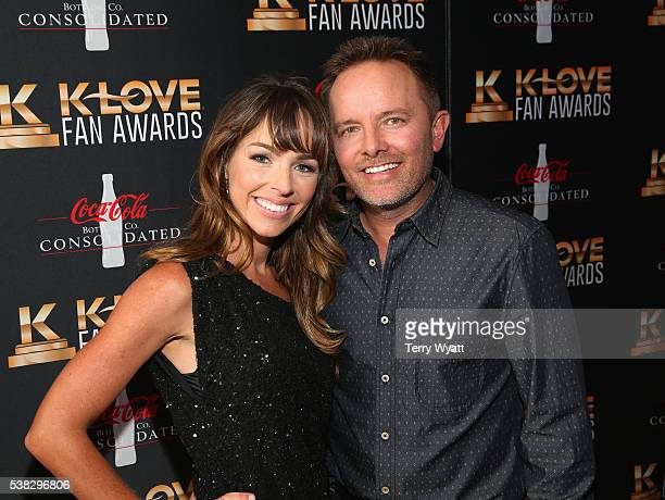 Chris Tomlin and Lauren Bricken attends the 4th Annual KLOVE Fan Awards at The Grand Ole Opry House on June 5 2016 in Nashville Tennessee