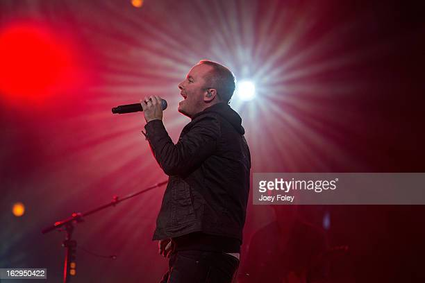 Chris Tomlin performs in concert during Burning Lights tour at Bankers Life Fieldhouse on March 1 2013 in Indianapolis Indiana