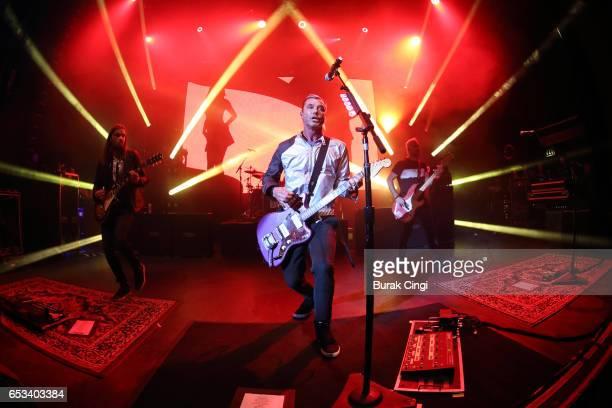 Chris Traynor Gavin Rossdale and Corey Britz of Bush perform at O2 Shepherd's Bush on March 14 2017 in London United Kingdom